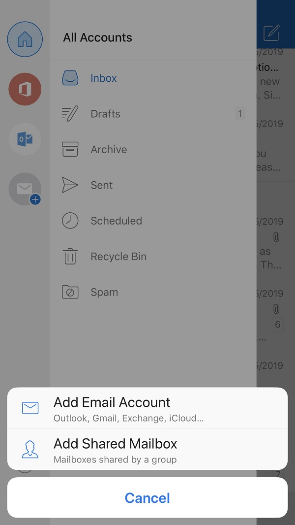 How to add shared mailbox in outlook 2020 iphone