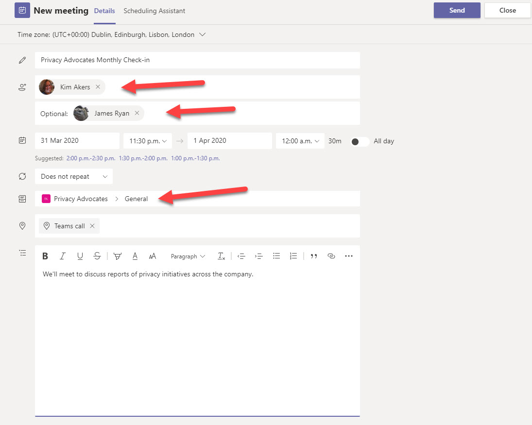 Who Receives Invitations for Teams Meetings - Office 365 for IT Pros